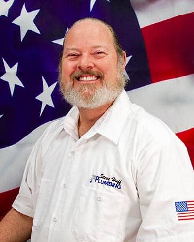 chip james steve huff plumbing service technician